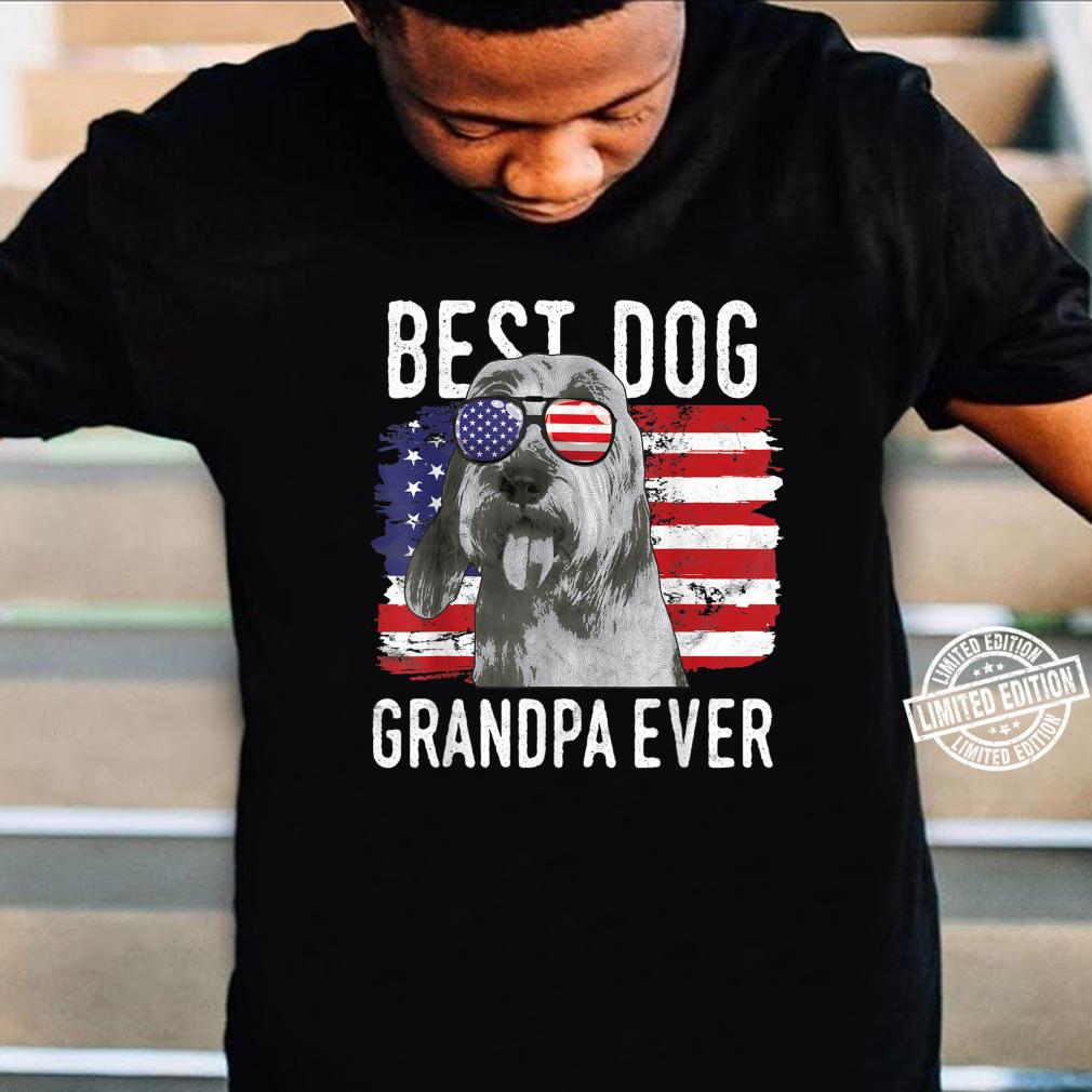 American Flag Best Dog Grandpa Ever Bassets Griffons Vendeen Shirt