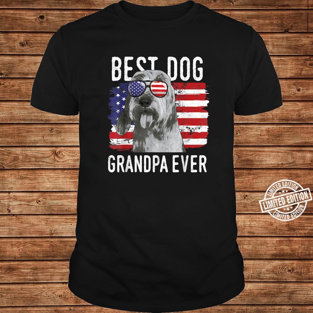 American Flag Best Dog Grandpa Ever Bassets Griffons Vendeen Shirt long sleeved