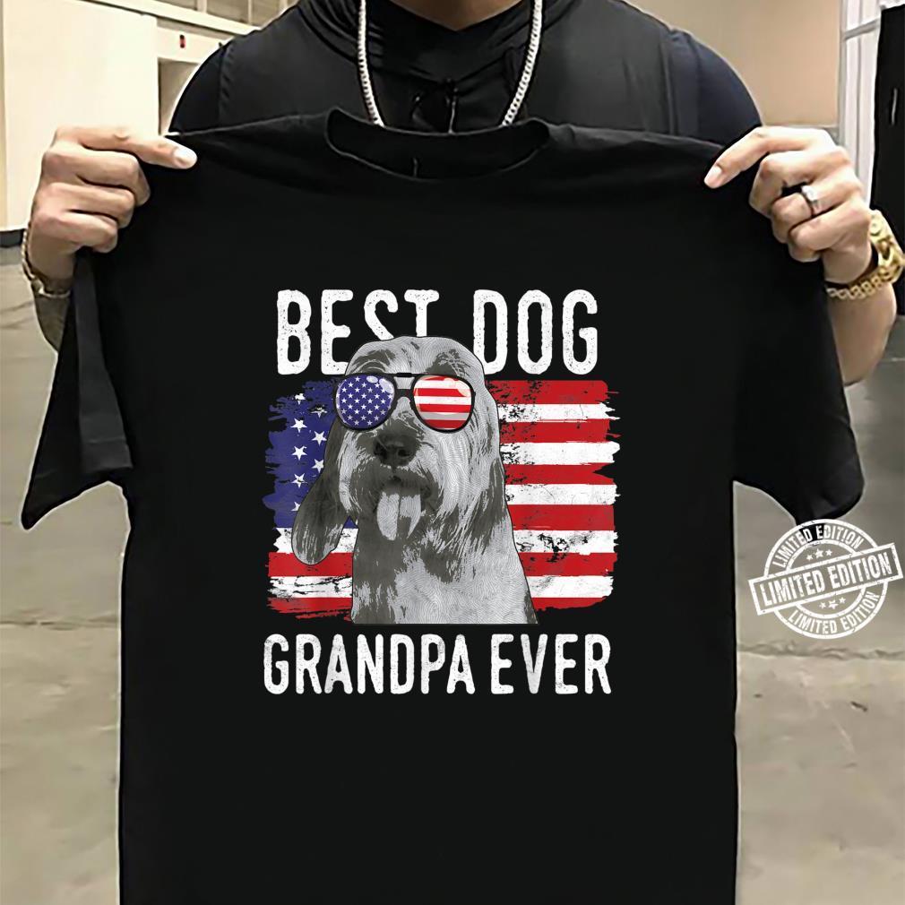 American Flag Best Dog Grandpa Ever Bassets Griffons Vendeen Shirt sweater