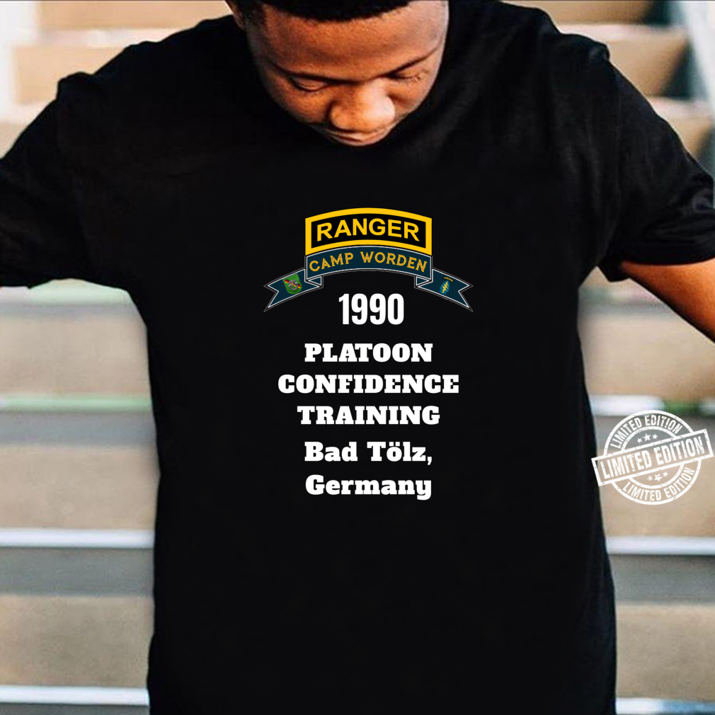 Camp Worden 1990 Platoon Confidence Training White Letters Shirt