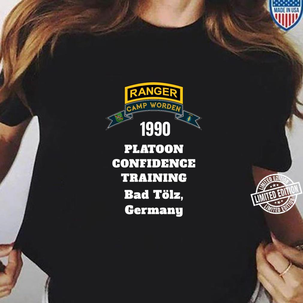 Camp Worden 1990 Platoon Confidence Training White Letters Shirt ladies tee