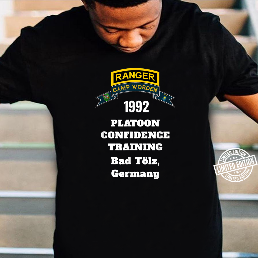 Camp Worden 1992 Platoon Confidence Training White Letters Shirt