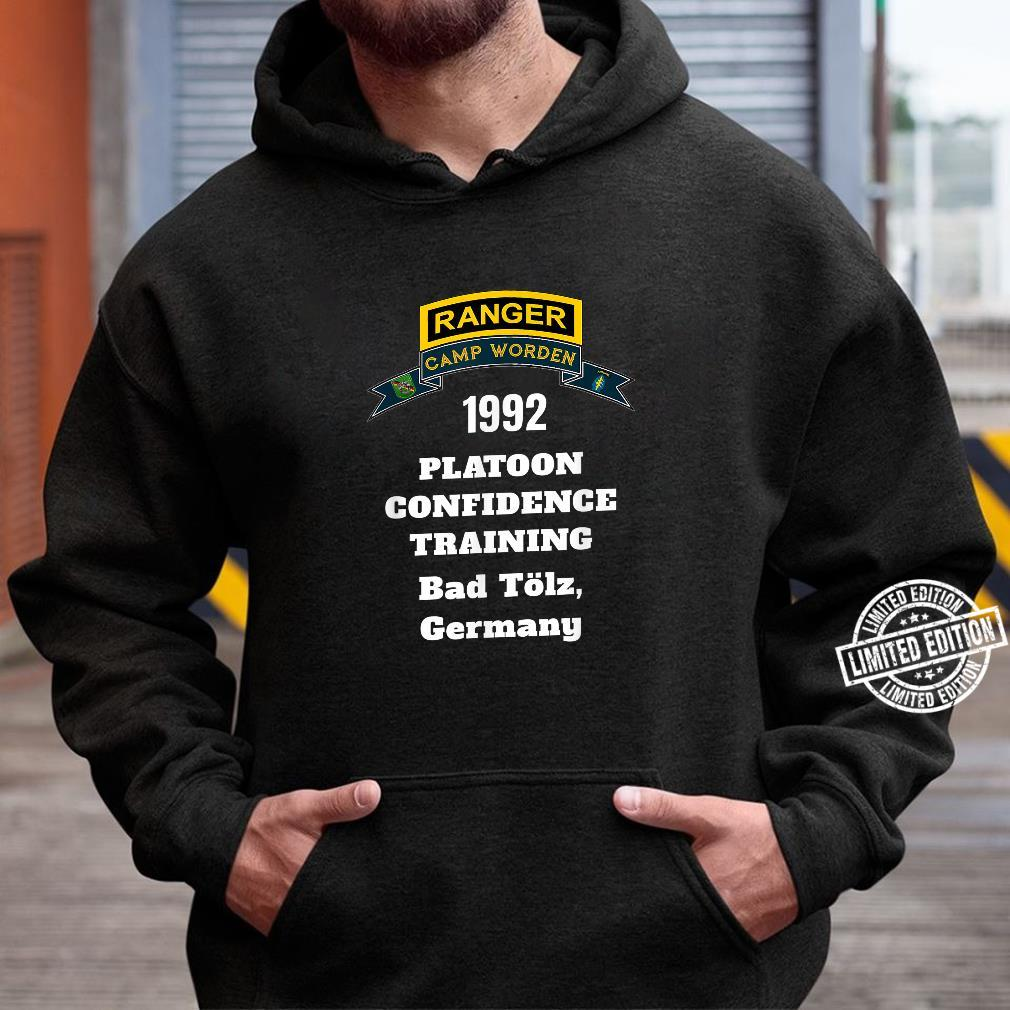 Camp Worden 1992 Platoon Confidence Training White Letters Shirt hoodie