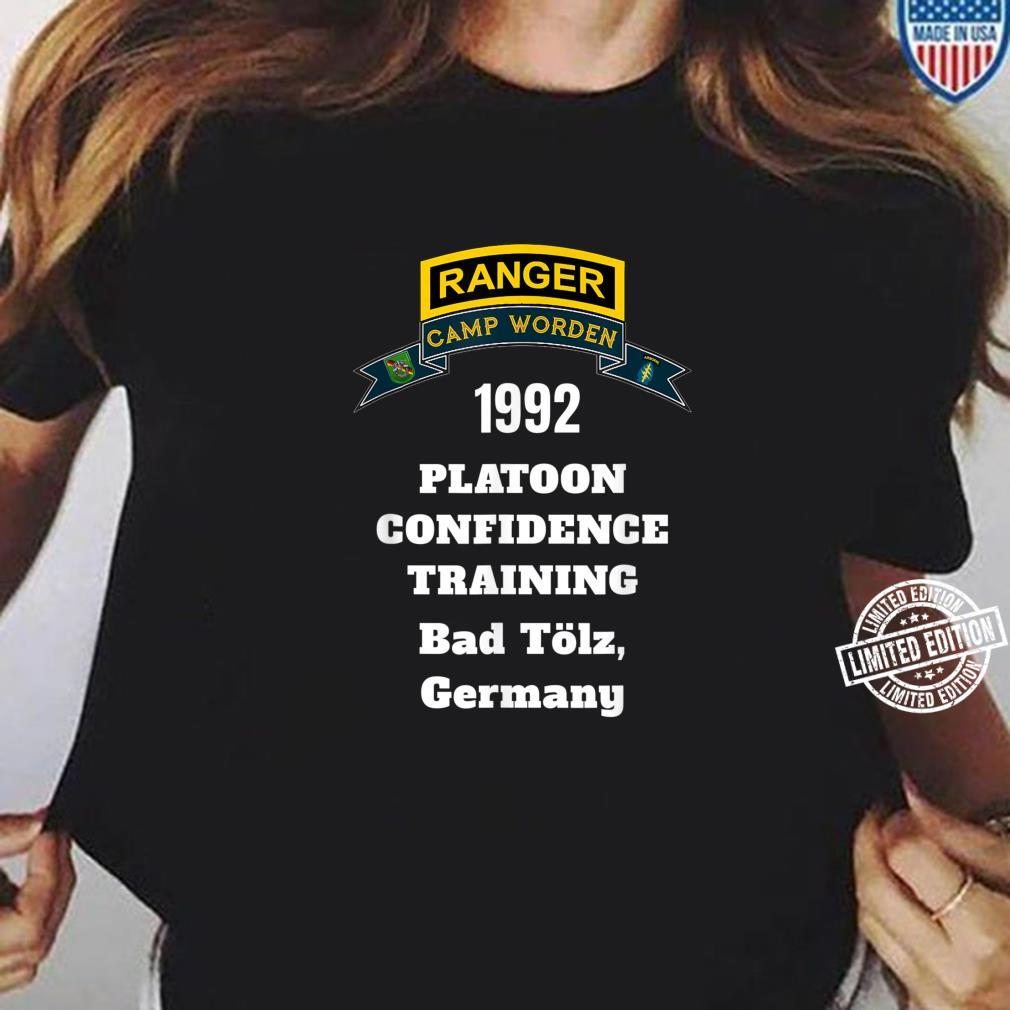Camp Worden 1992 Platoon Confidence Training White Letters Shirt ladies tee