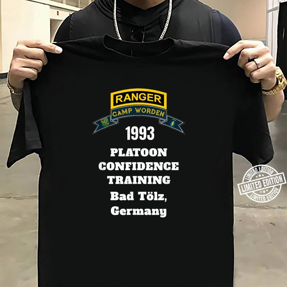Camp Worden 1993 Platoon Confidence Training White Letters Shirt sweater