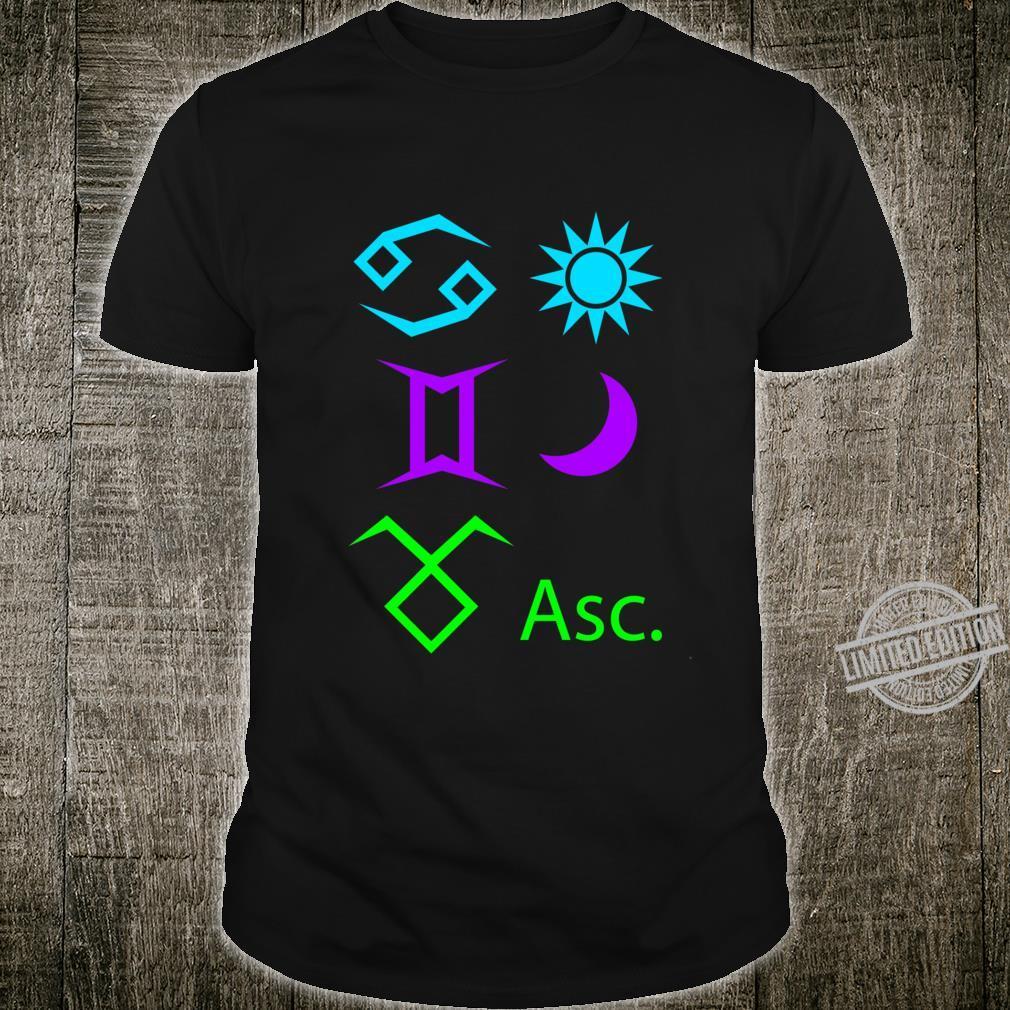 Cancer Sun, Gemini Moon, Taurus Ascendant Racerback Shirt
