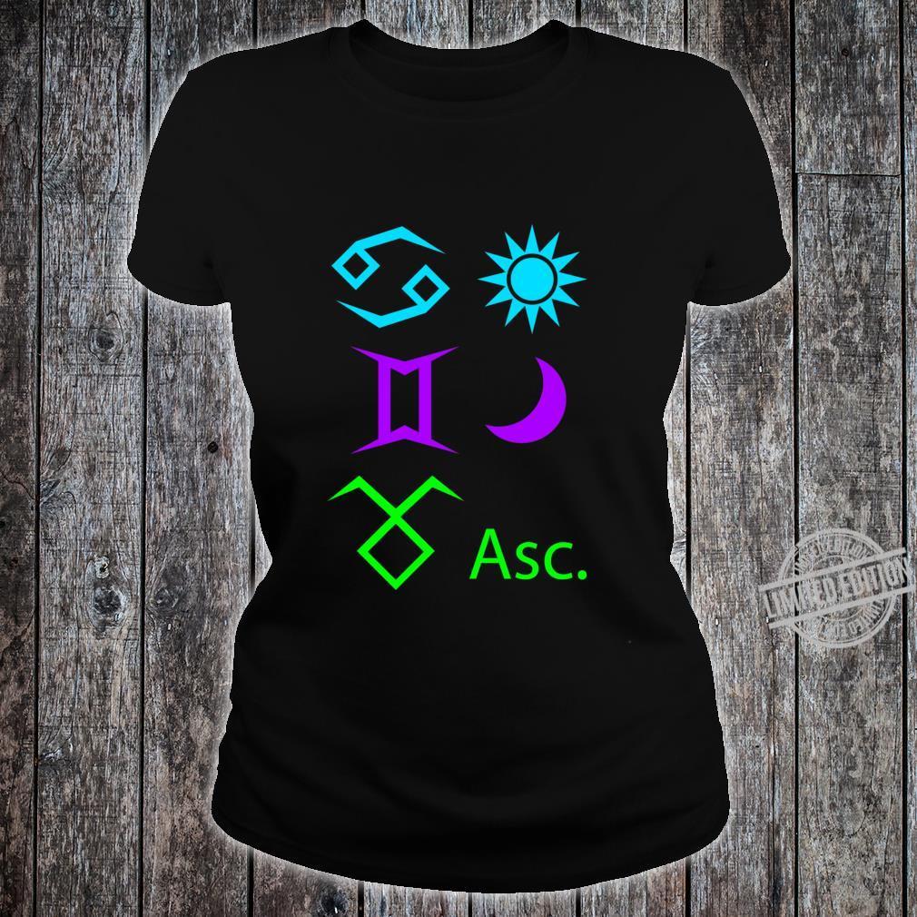 Cancer Sun, Gemini Moon, Taurus Ascendant Racerback Shirt ladies tee