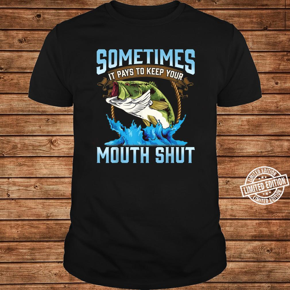 Catching Fish Keep Your Mouth Shut Fisherman Quote Shirt long sleeved