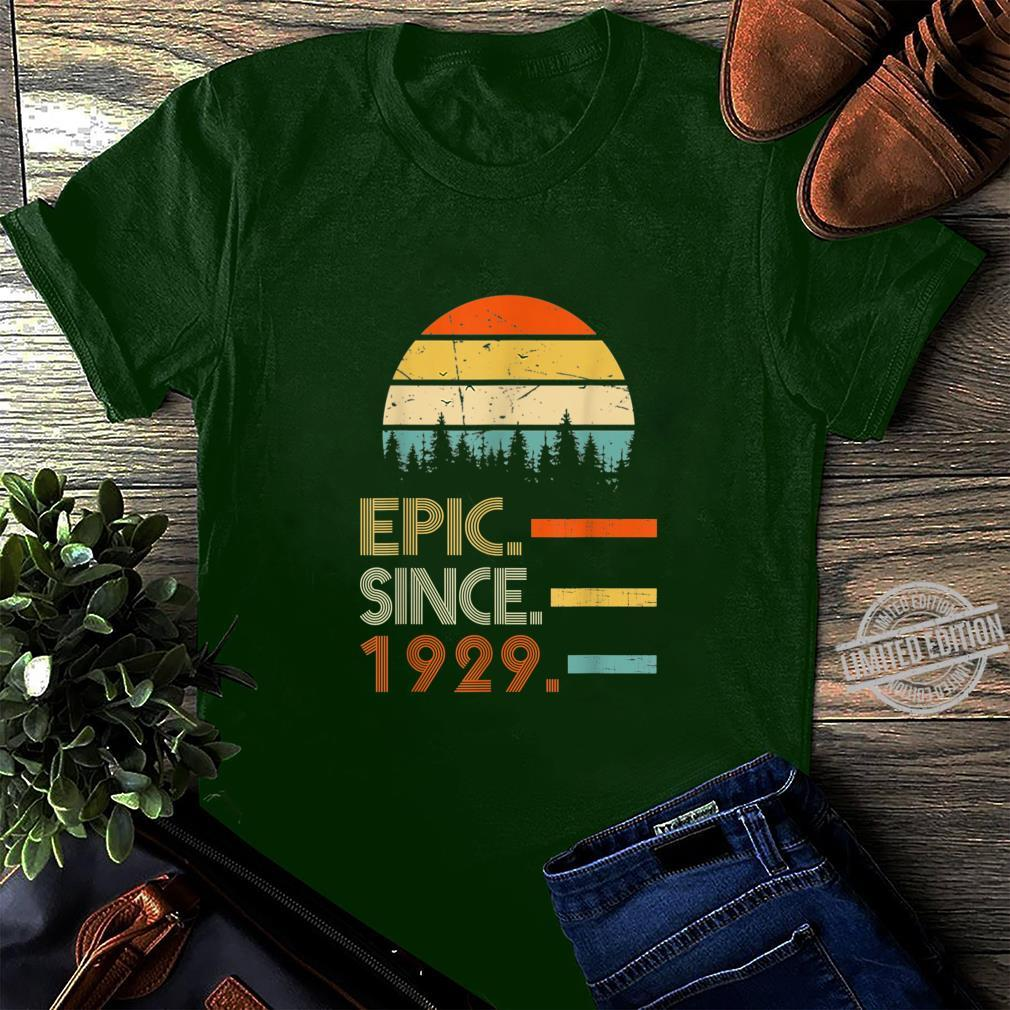 Epic Since 1929 91 Year Old Shirt 1929 Birthday Shirt long sleeved