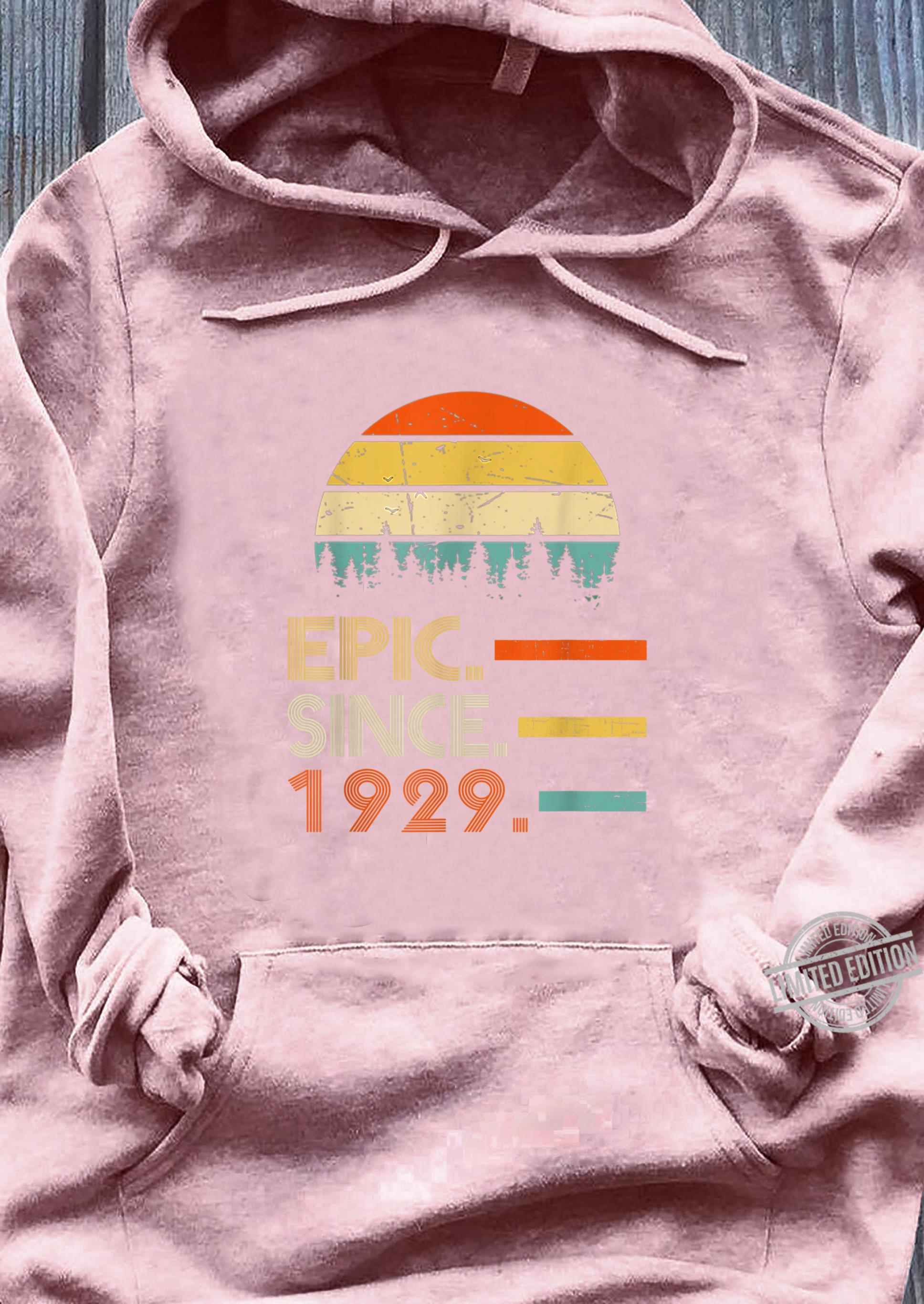 Epic Since 1929 91 Year Old Shirt 1929 Birthday Shirt sweater