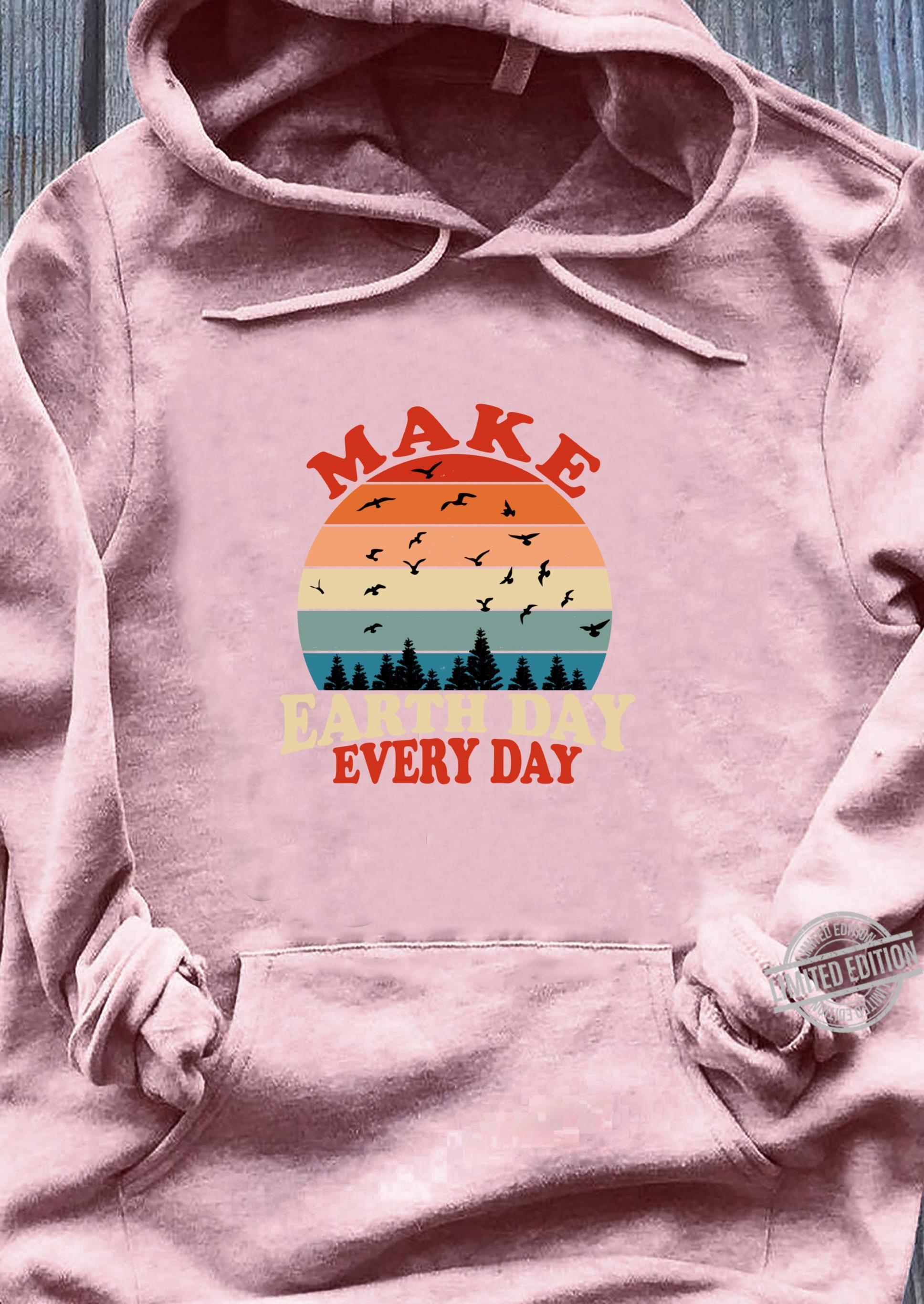Make Earth Day Every Day Retro Vintage Forest April 22nd Shirt sweater