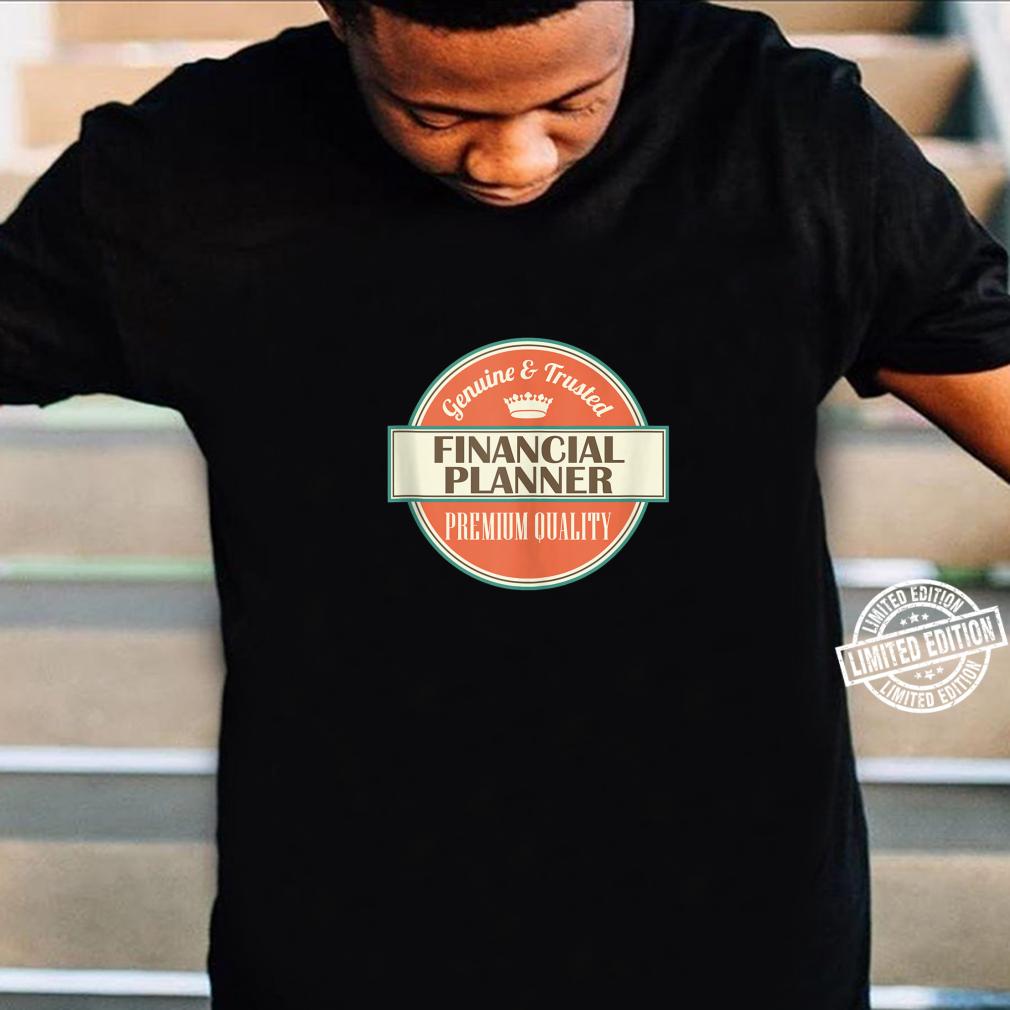 Mens Financial Planner Vintage Occupation Shirt