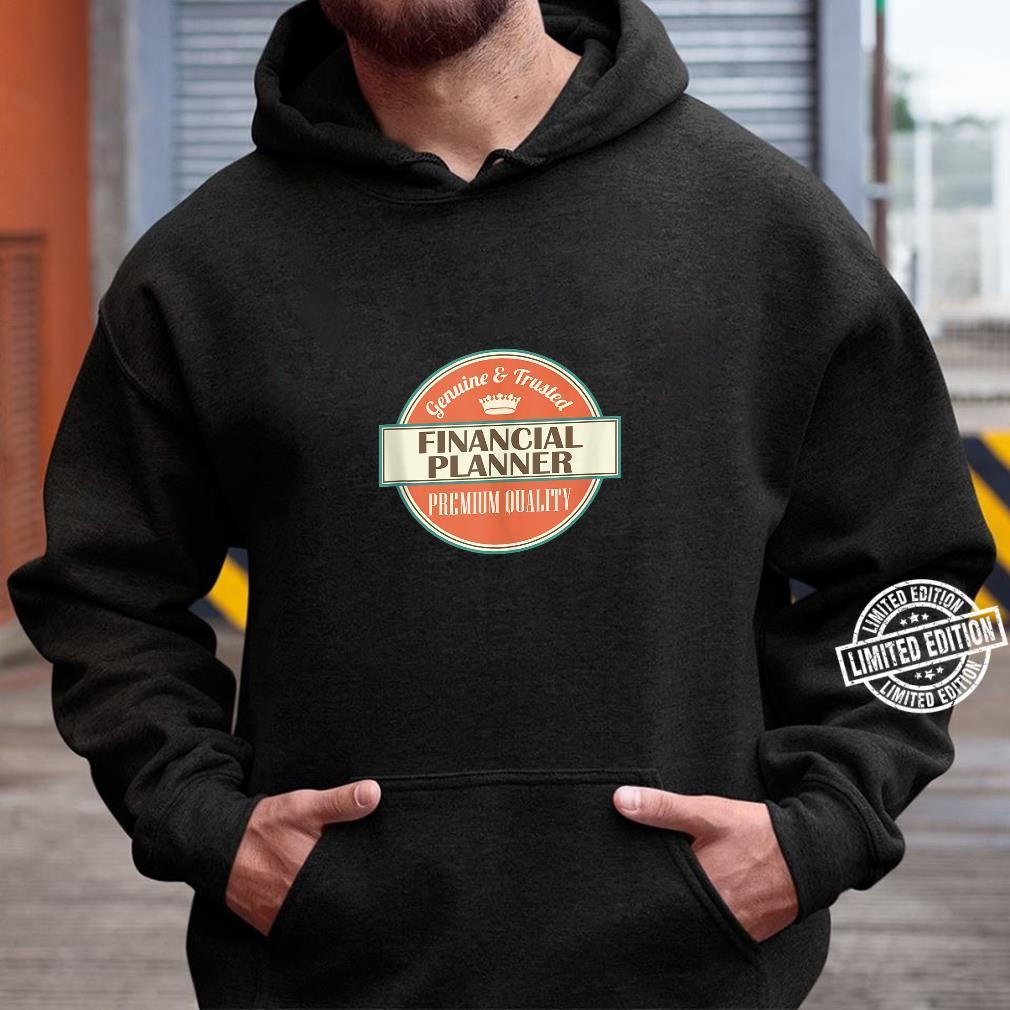Mens Financial Planner Vintage Occupation Shirt hoodie