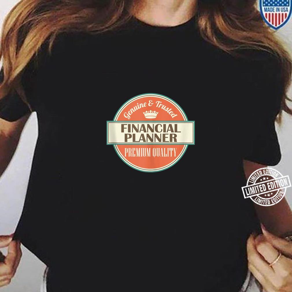 Mens Financial Planner Vintage Occupation Shirt ladies tee