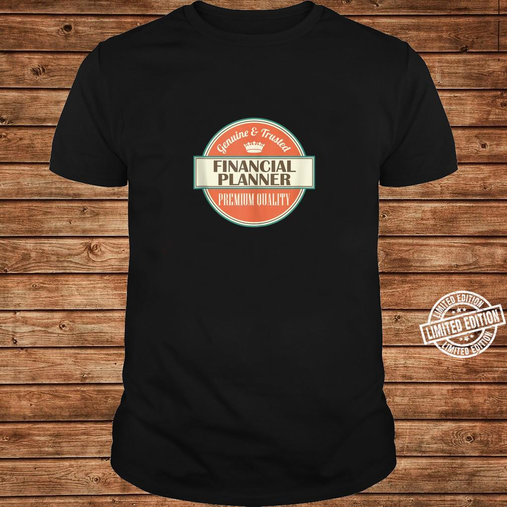 Mens Financial Planner Vintage Occupation Shirt long sleeved