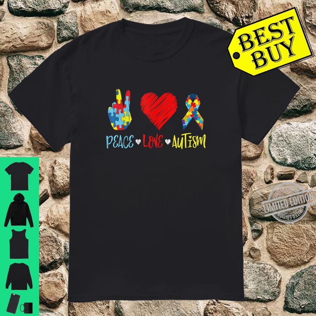 PeaceLoveAutism Shirt Autictis Autism Awareness Shirt