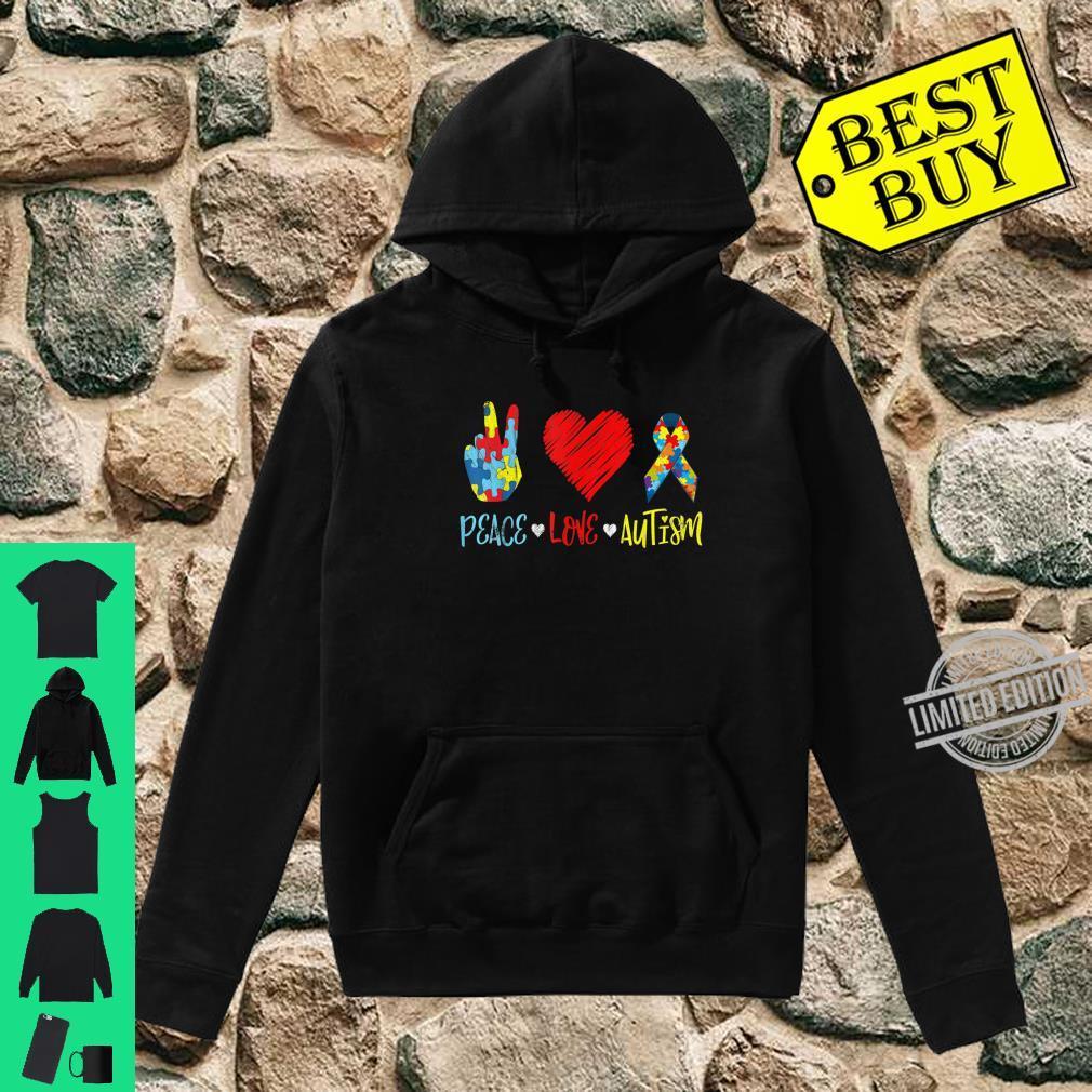 PeaceLoveAutism Shirt Autictis Autism Awareness Shirt hoodie