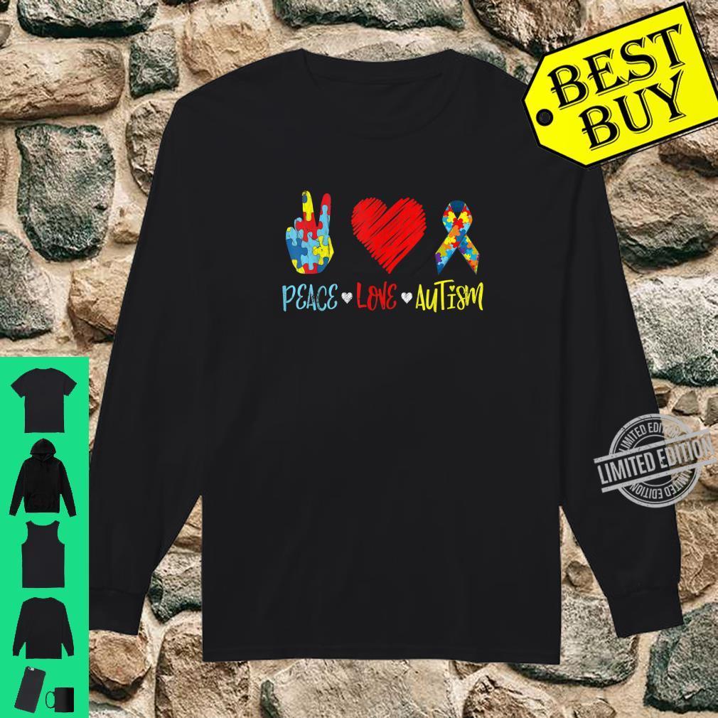 PeaceLoveAutism Shirt Autictis Autism Awareness Shirt long sleeved