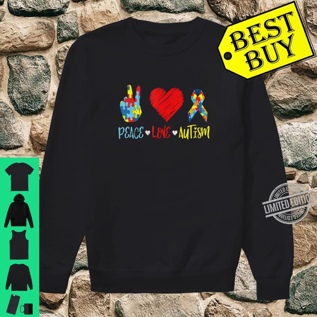 PeaceLoveAutism Shirt Autictis Autism Awareness Shirt sweater