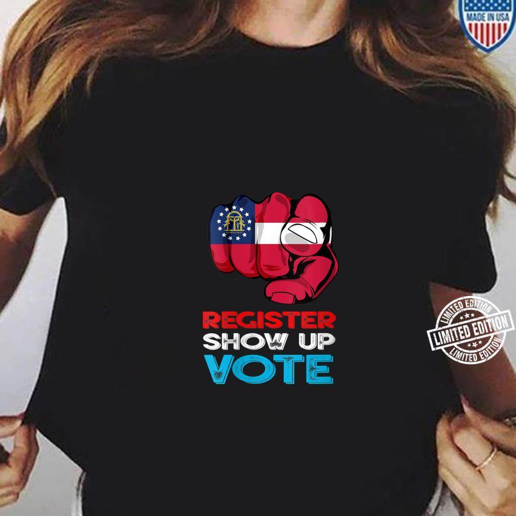 Womens Vote Presidential Election Georgia Finger Retro Shirt ladies tee